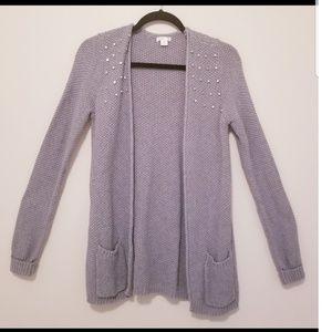 Xhilaration Knitted Gray Sweater
